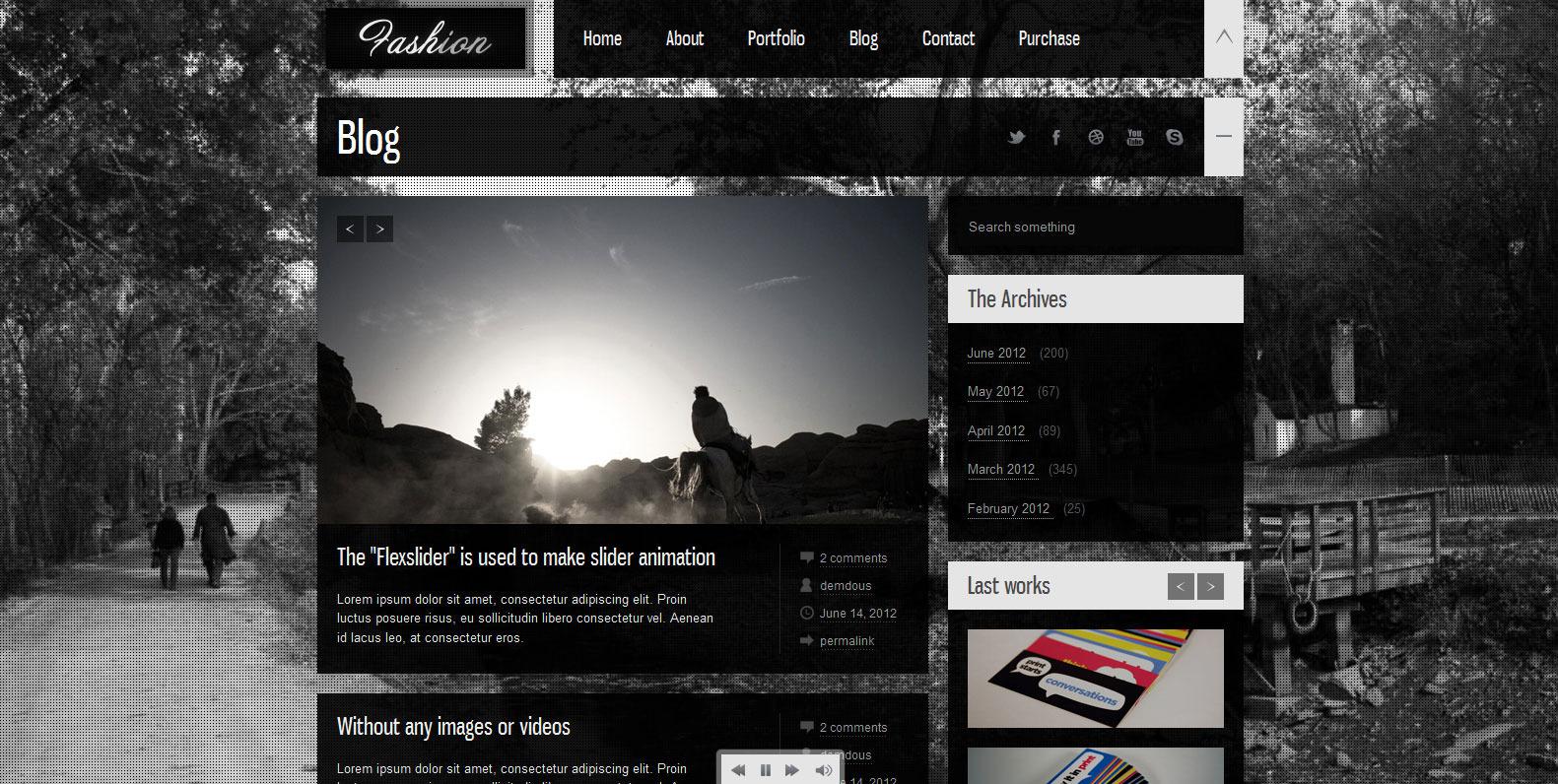 Fashion - Fullscreen Flexible And Photography