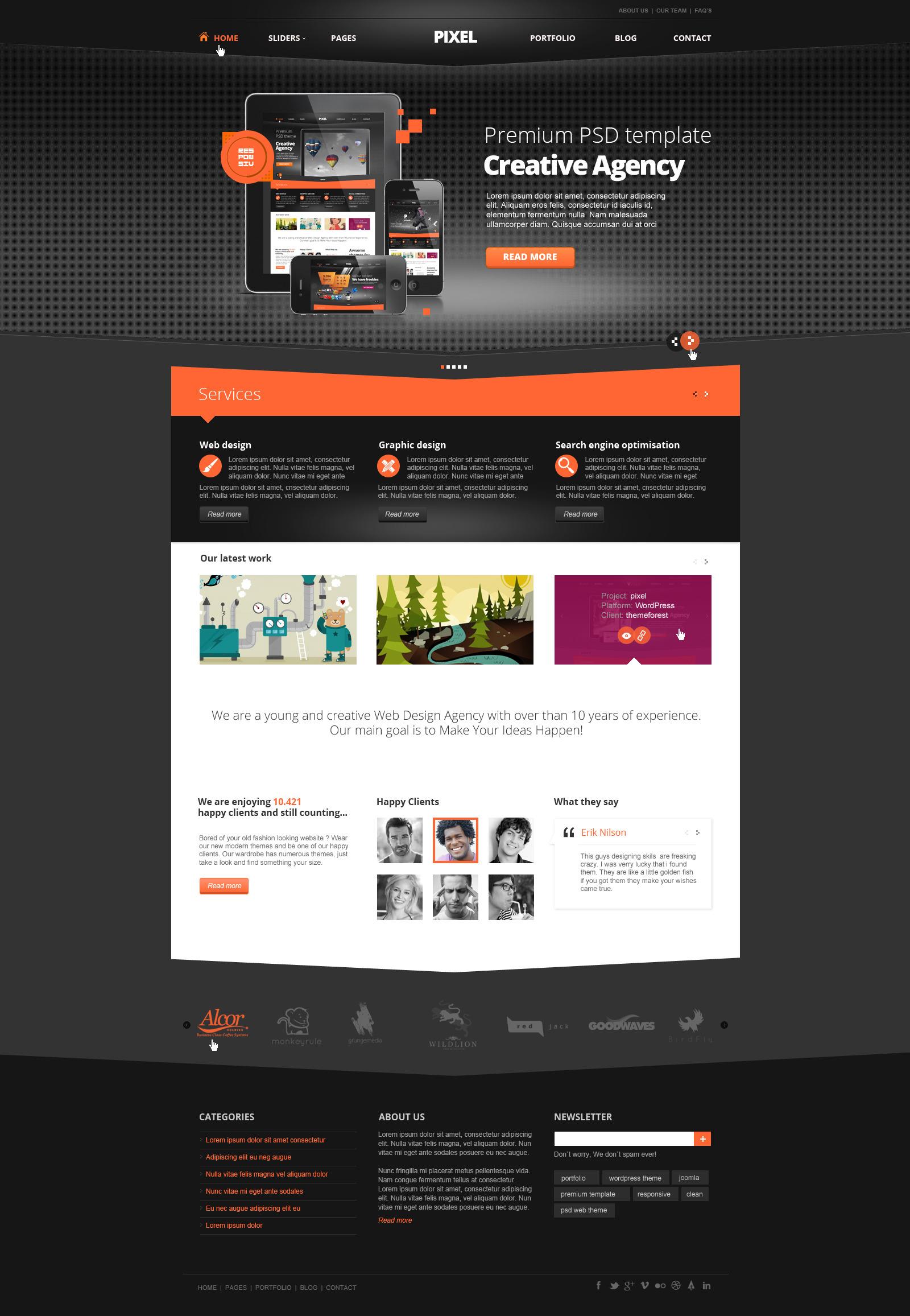 Pixel Studio - Premium Website Template