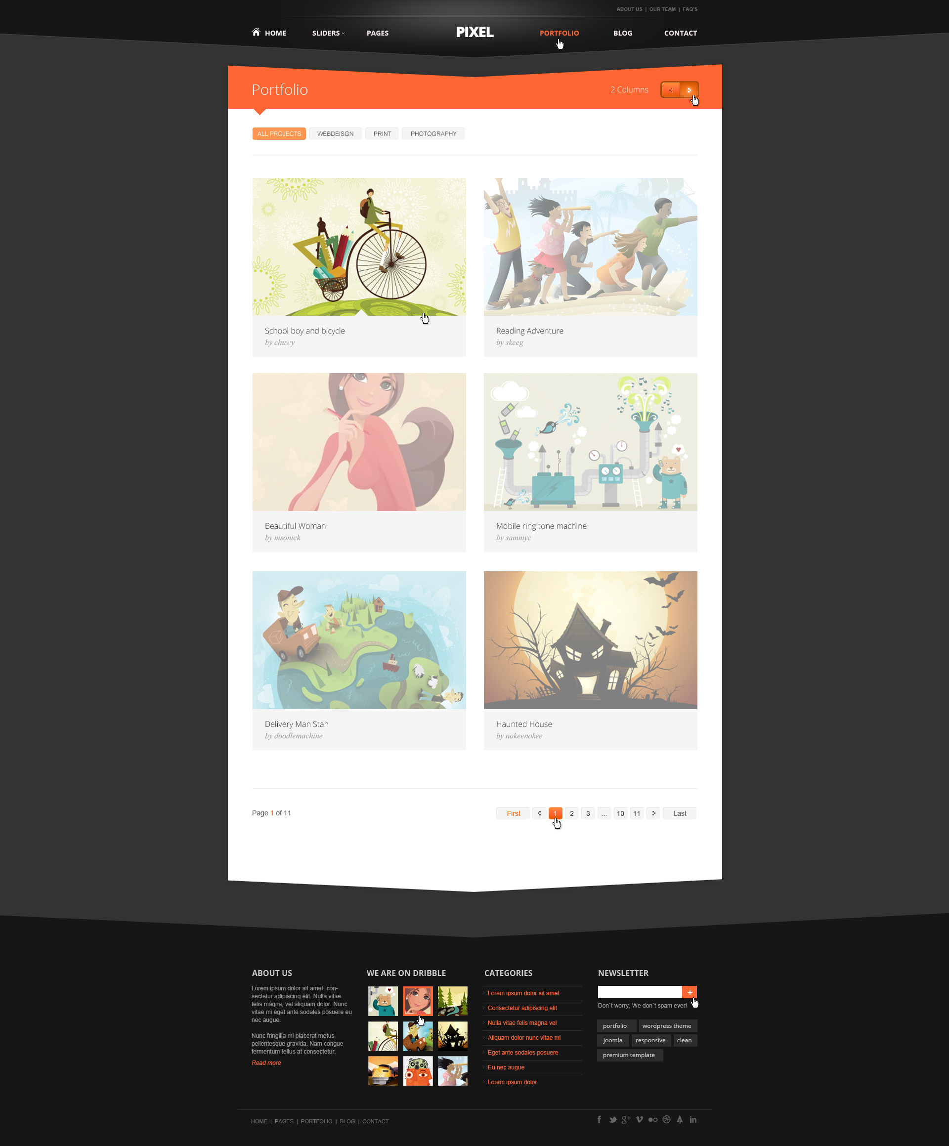 Pixel Studio - Premium Website Template