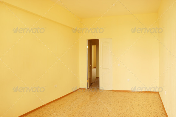 Empty room in new house - Stock Photo - Images