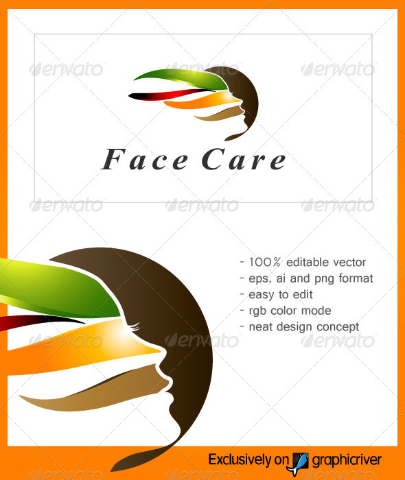 GraphicRiver FaceCare Beauty Logo 2442480