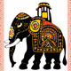 Festive Indian elephant - GraphicRiver Item for Sale