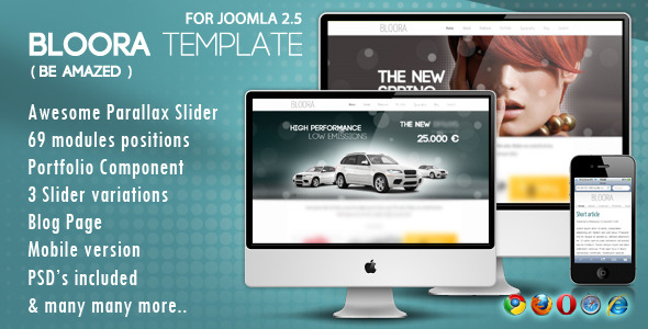 Bloora Template for Joomla - BLOORA TEMPLATE FOR JOOMLA