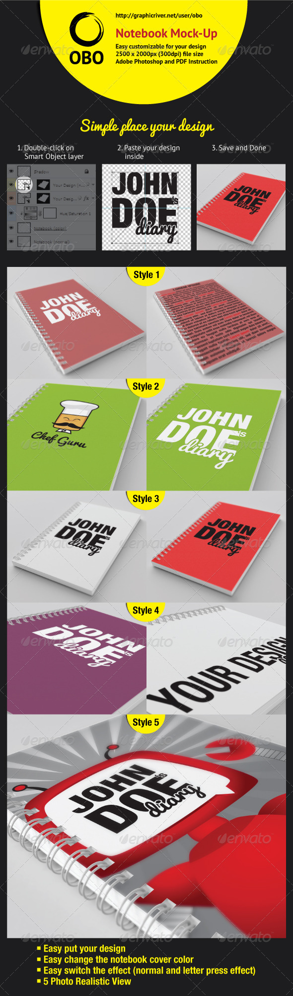 GraphicRiver Notebook Mock-Up 2575639