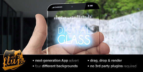After Effects Project - VideoHive Digital Glass 2575650