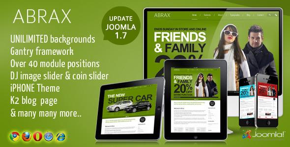 Abrax Template for Joomla
