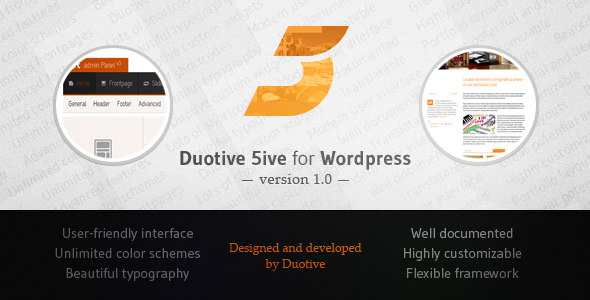 Duotive 5ive for WordPress - Portfolio Creative