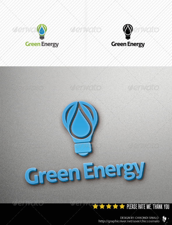 Green Energy Logo Template - Letters Logo Templates
