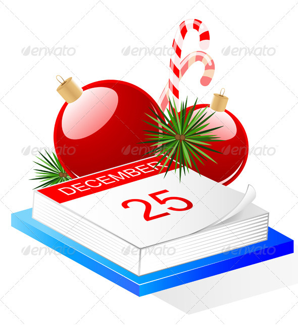 Desktop Calendar and Christmas Decoration