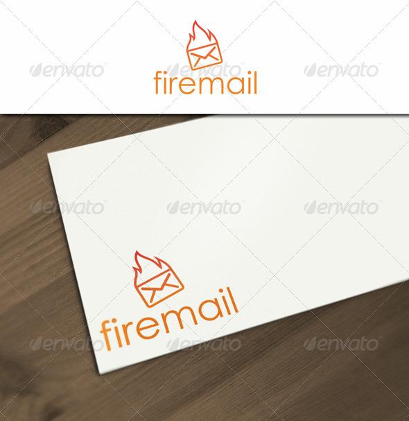 Fire Mail Logo - Symbols Logo Templates