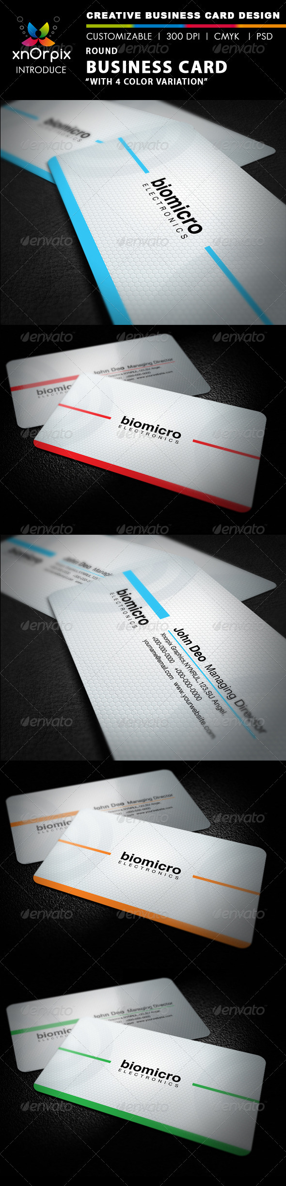 GraphicRiver Round Business Card 2576265