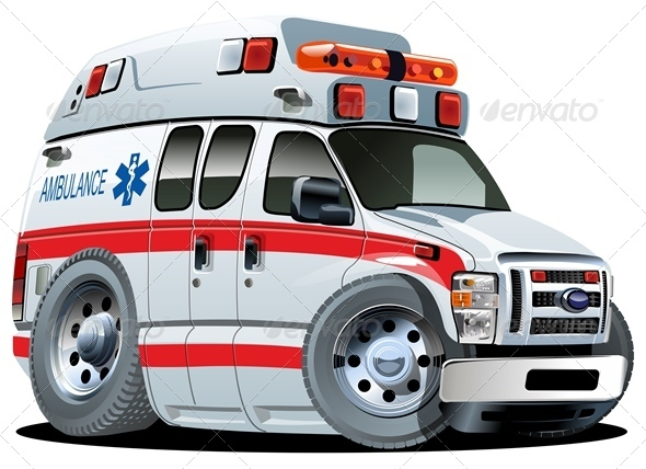 Vector Cartoon Ambulance