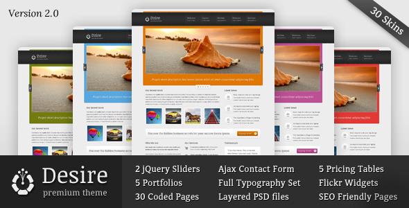 ThemeForest Desire Business & Portfolio HTML CSS Theme 1605906