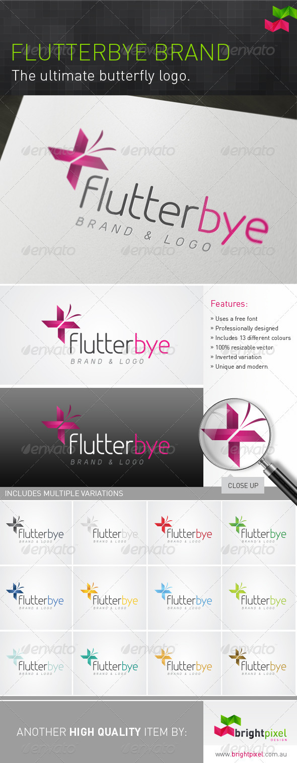 Flutterbye Brand - Animals Logo Templates