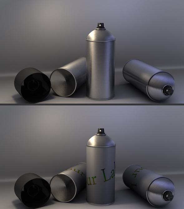3DOcean Spray Can 93685