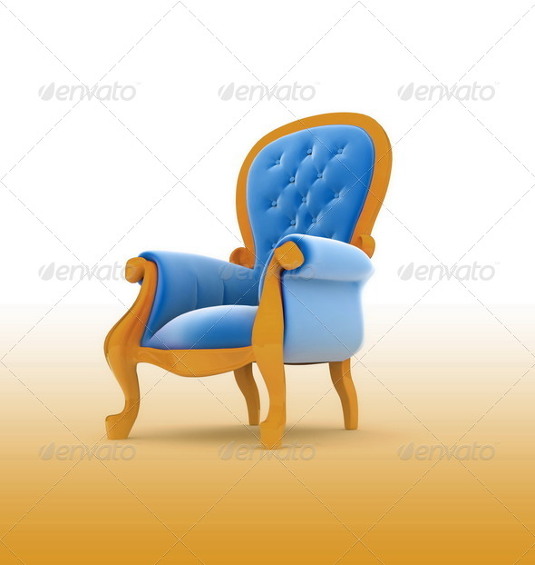 Armchair isolated on white - Stock Photo - Images