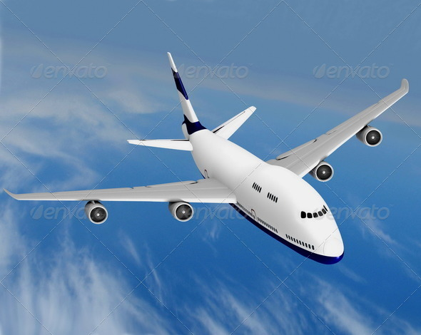 Flying Jet Airplane - Stock Photo - Images