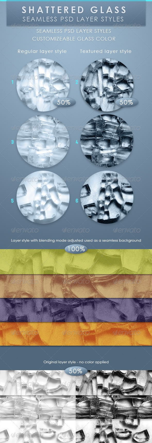GraphicRiver Shattered Glass Seamless Layer
