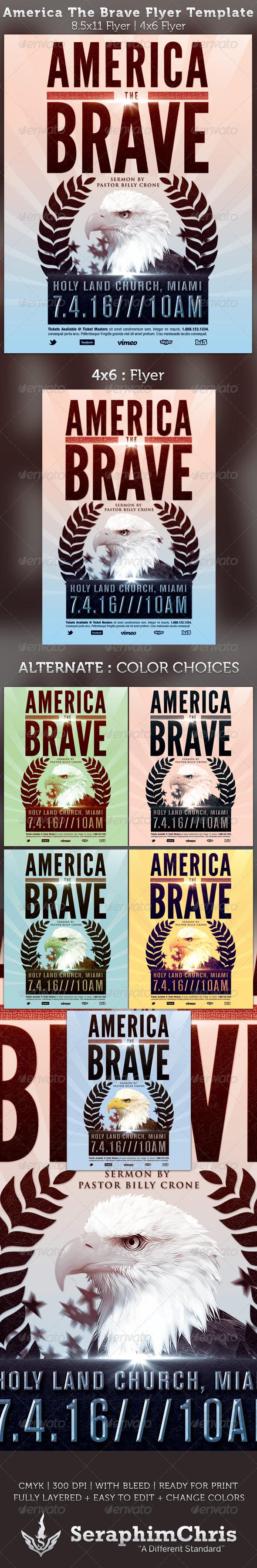 GraphicRiver America The Brave Flyer Template 2569864