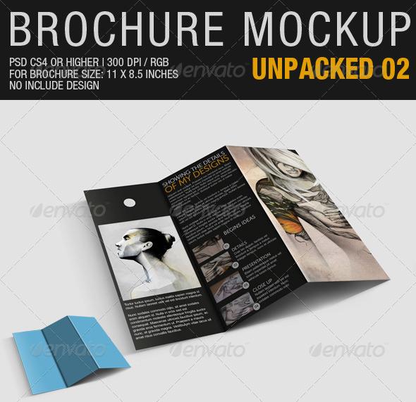 Brochure Mockup Unpacked 02 - Brochures Print