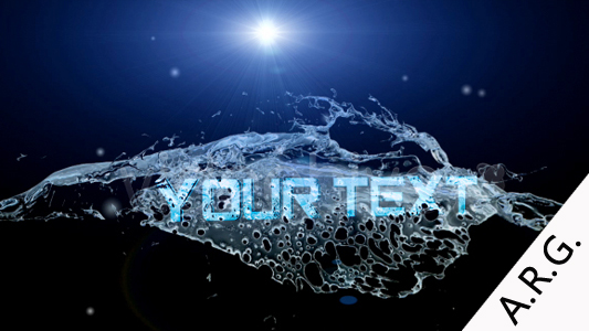 After Effects Project - VideoHive Aqua's title 93700