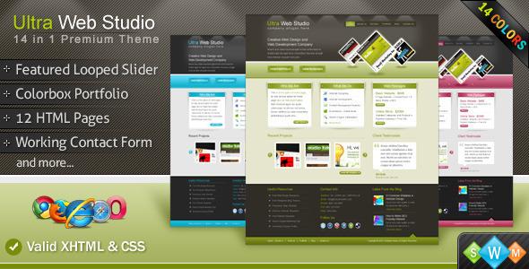 ThemeForest Ultra Web Studio 99365