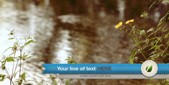 After Effects Project - VideoHive Ribbon Lower third 2577371
