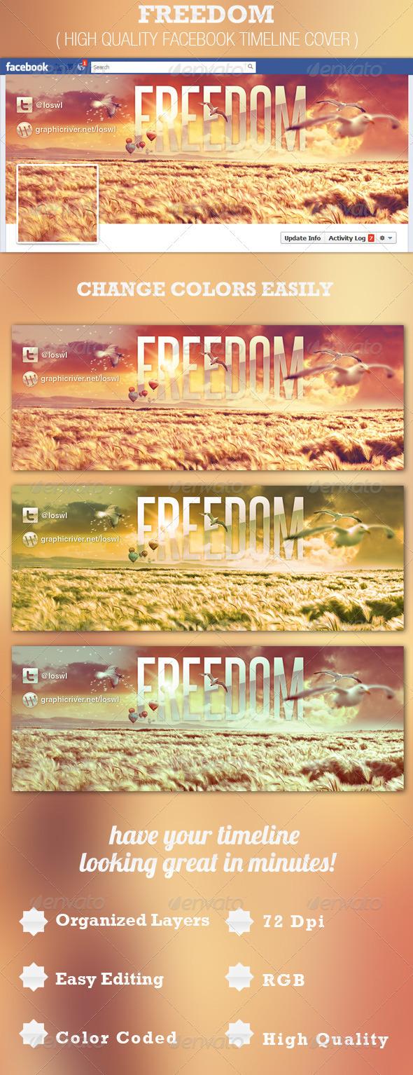 Freedom Facebook Timeline Cover Template - Facebook Timeline Covers Social Media