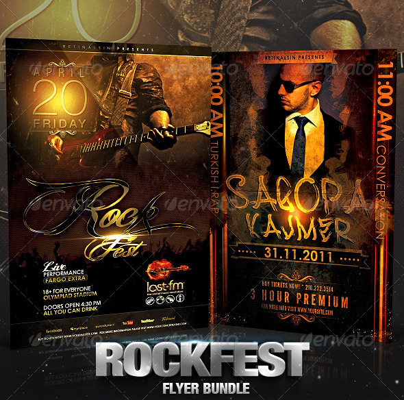 Rockfest Flyer Bundle - Concerts Events