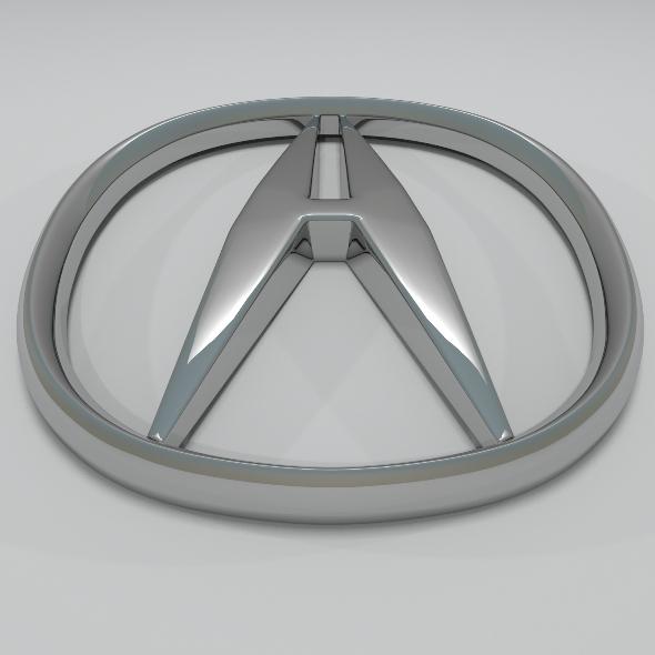 Acura Logo - 3DOcean Item for Sale