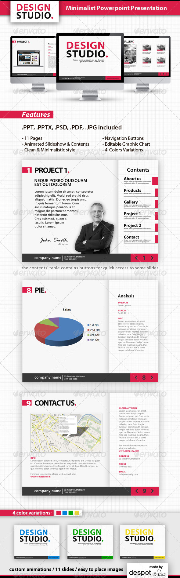 GraphicRiver Minimalist Powerpoint Template 288700