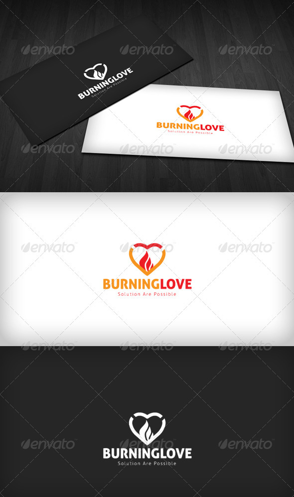 Burning Love Logo - Symbols Logo Templates