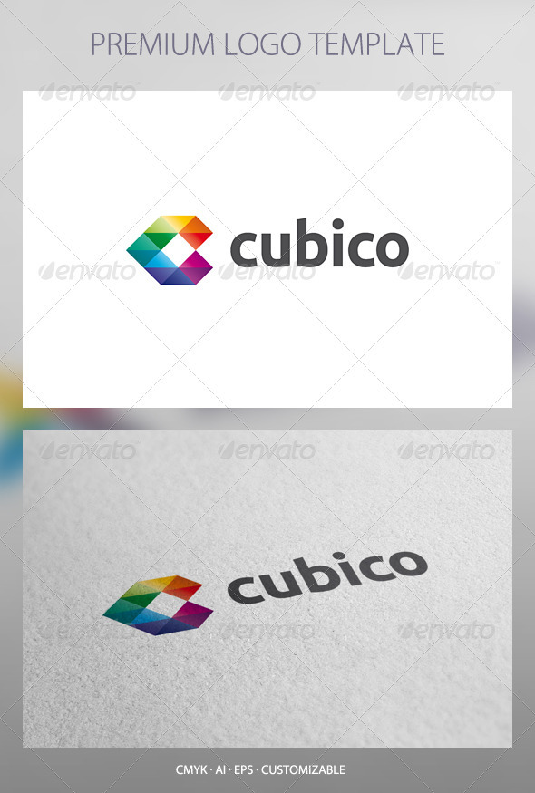 Cubico - Abstract Logo Template - Abstract Logo Templates