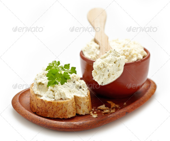 fresh curd cheese - Stock Photo - Images