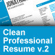 Clean Professional Resume v2 - GraphicRiver Item for Sale