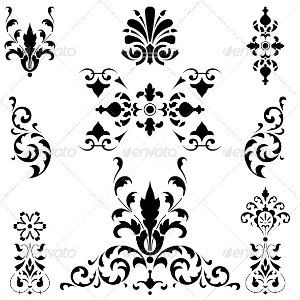 GraphicRiver Medieval ornaments on white 2579951