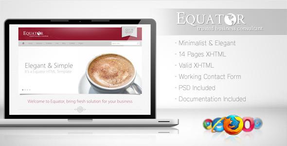 ThemeForest Equator Minimalist Business Template 5 153972