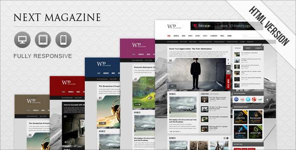 Next Magazine - Responsive Magazine Template