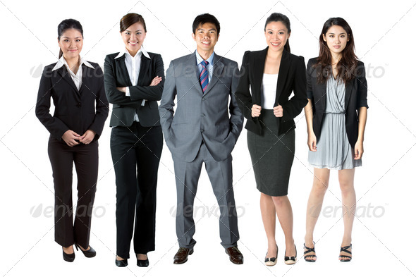 Asian Business team. - Stock Photo - Images