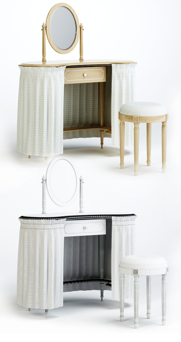 3d model of chair and table Olga. Pellegatta - 3DOcean Item for Sale