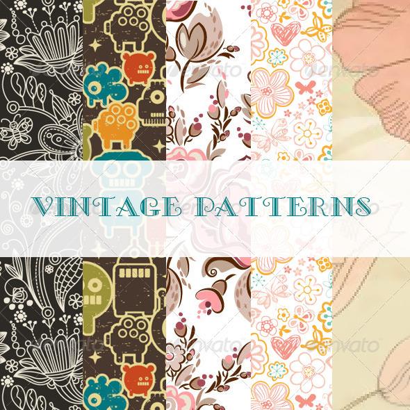 GraphicRiver Vintage Patterns 2580191