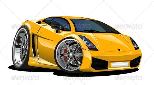 Vector Cartoon Sport Car Vectors Objects Man Made Objects