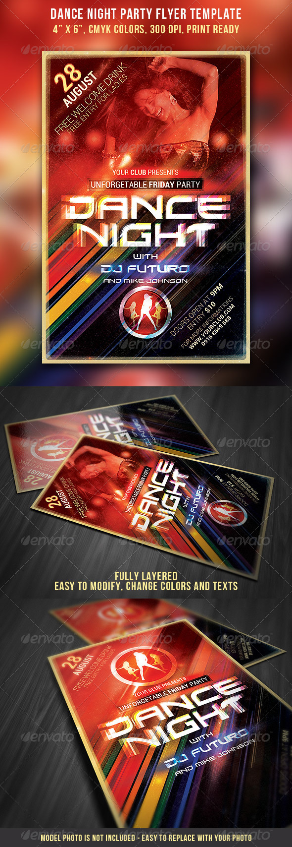 Dance Night Party Flyer Template - Clubs & Parties Events