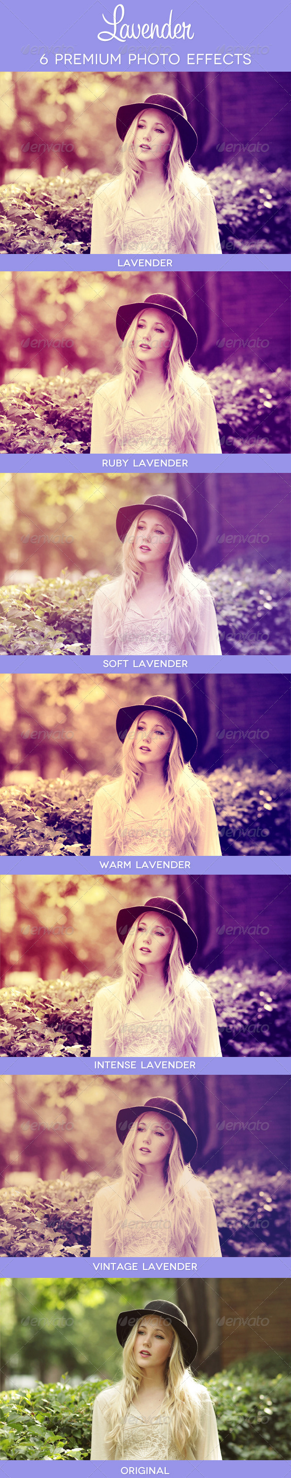 Lavender - 6 Premium Photo Effects - Photo Effects Actions