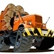 cartoon Logging truck - GraphicRiver Item for Sale