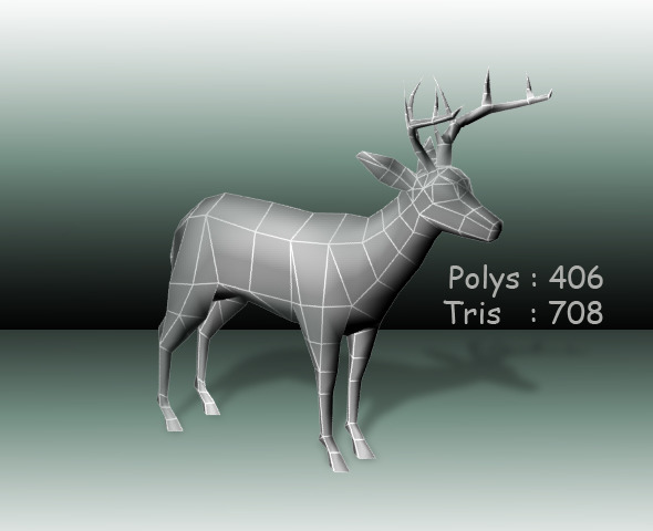 Deer low poly - 3DOcean Item for Sale