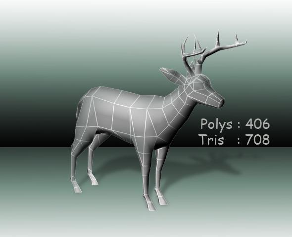 3DOcean Deer low poly 2581159