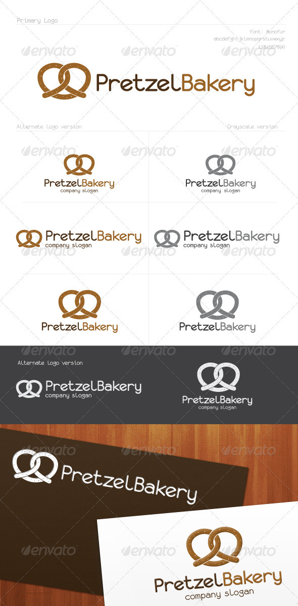Pretzel Bakery Logo - Food Logo Templates