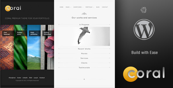 Coral Wordpress Theme - Portfolio Creative