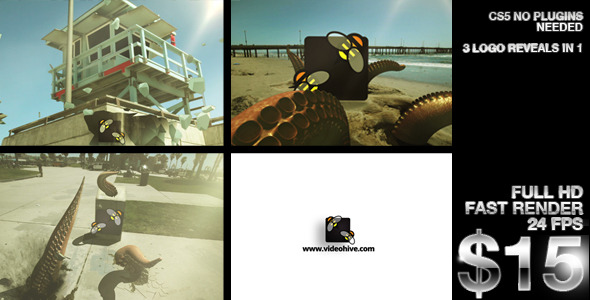 After Effects Project - VideoHive Tentacle Logo Reveals 2564107